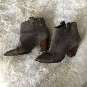J. Crew Shoes - J. Crew gray suede ankle booties